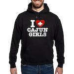 I Love Cajun Girls Hoodie (dark)