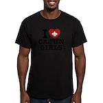 I Love Cajun Girls Men's Fitted T-Shirt (dark)