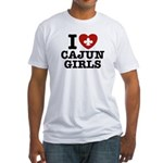 I Love Cajun Girls Fitted T-Shirt