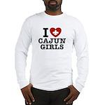 I Love Cajun Girls Long Sleeve T-Shirt