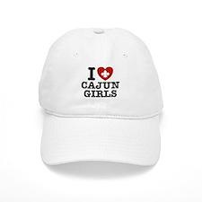 I Love Cajun Girls Baseball Cap