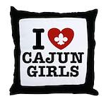 I Love Cajun Girls Throw Pillow