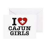 I Love Cajun Girls Greeting Cards (Pk of 10)