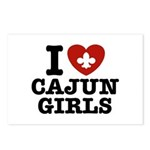 I Love Cajun Girls Postcards (Package of 8)
