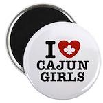 I Love Cajun Girls Magnet
