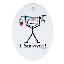 Breast Cancer Survivor Oval Ornament