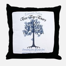 Tree Top Tours (with slogan) Throw Pillow