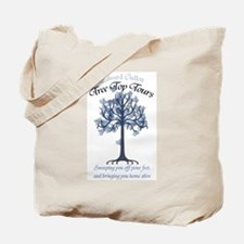 Tree Top Tours (with slogan) Tote Bag