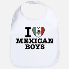 I Love Mexican Boys Bib