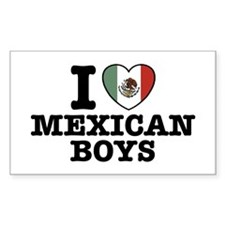 I Love Mexican Boys Rectangle Decal