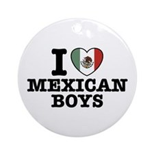 I Love Mexican Boys Ornament (Round)