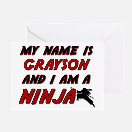 my name is grayson and i am a ninja Greeting Card