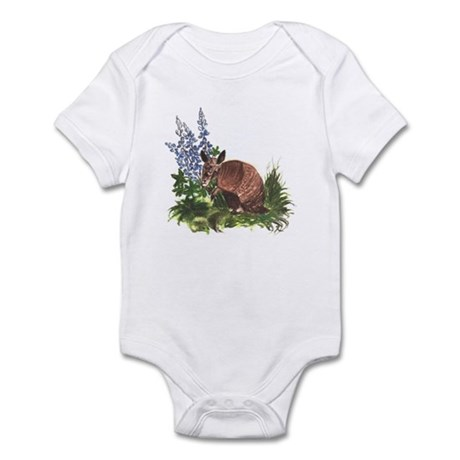Armadillo with Bluebonnets Infant Bodysuit