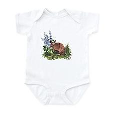 Armadillo with Bluebonnets Infant Bodysuit