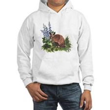 Armadillo with Bluebonnets Hoodie