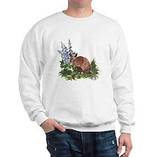 Armadillo with Bluebonnets Sweatshirt