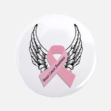 """Breast Cancer Awareness 3.5"""" Button (100 pack"""