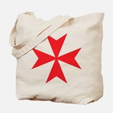 Red Maltese Cross Tote Bag