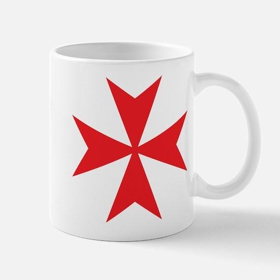 Red Maltese Cross Mug