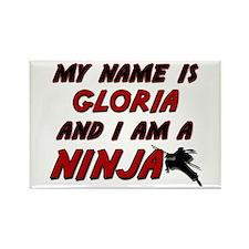 my name is gloria and i am a ninja Rectangle Magne