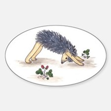 Downward Facing Yoga Hedgehog Oval Decal