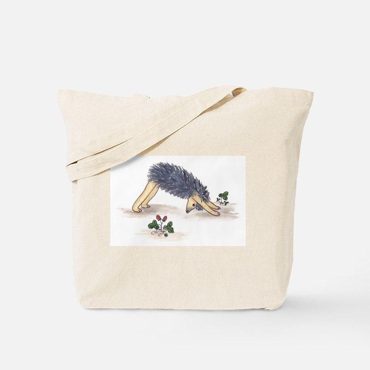 Downward Facing Yoga Hedgehog Tote Bag