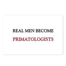 Real Men Become Primatologists Postcards (Package