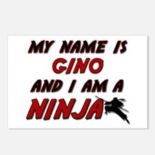 my name is gino and i am a ninja Postcards (Packag