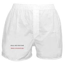 Real Men Become Press Sub-Editors Boxer Shorts