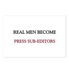 Real Men Become Press Sub-Editors Postcards (Packa