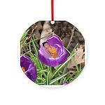 Crocus Flower Baby Ornament (Round)