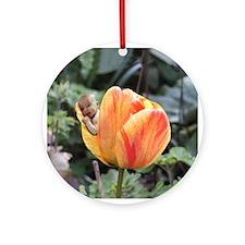 Tulip Flower Baby Ornament (Round)
