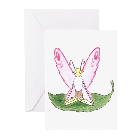 Lotus Pose Butterfly Greeting Cards (Pk of 20)