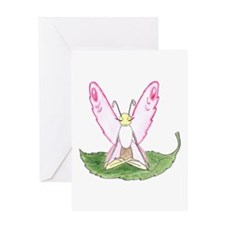 Lotus Pose Butterfly Greeting Card