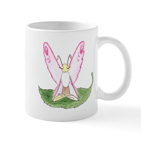 Lotus Pose Butterfly Mug