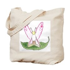 Lotus Pose Butterfly Tote Bag