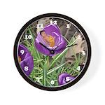 Crocus Flower Baby Wall Clock