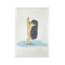 Yoga Hedgehog Chair Pose Rectangle Magnet