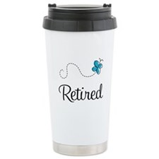 Pretty Retired Retirement Travel Mug