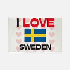 I Love Sweden Rectangle Magnet