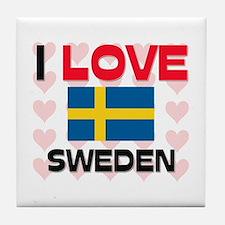 I Love Sweden Tile Coaster