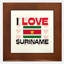 I Love Suriname Framed Tile