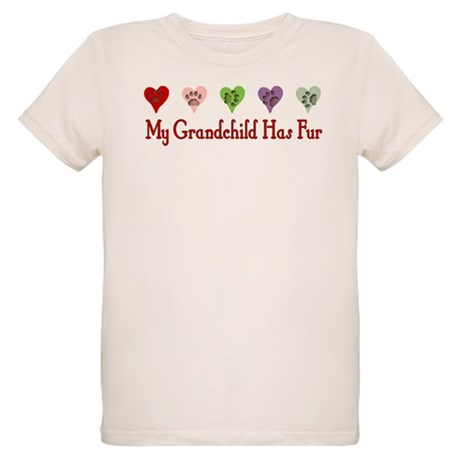 Furry Grandchild Organic Kids T-Shirt