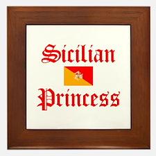 Sicilian Princess Framed Tile