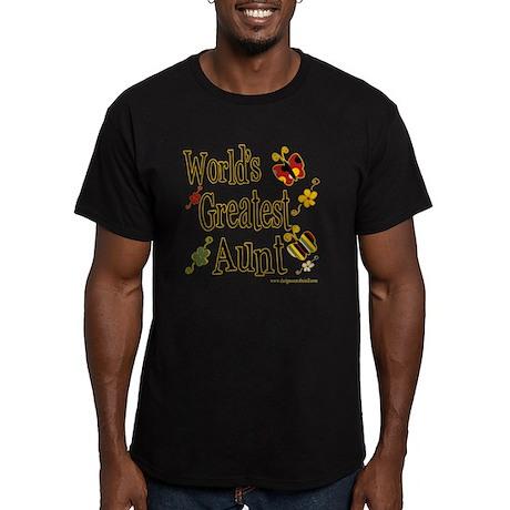 Aunt Butterflies Men's Fitted T-Shirt (dark)