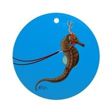 Seahorse Reindeer Christmas Holiday Ornament