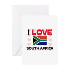 I Love South Africa Greeting Card
