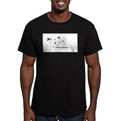 Ninja Bubbles Men's Fitted T-Shirt (dark)