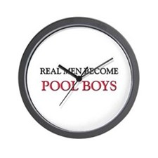 Real Men Become Pool Boys Wall Clock