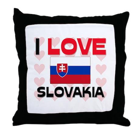 I Love Slovakia Throw Pillow